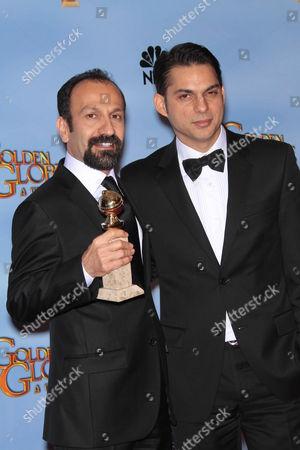 Asghar Farhadi and Peyman Moaadi