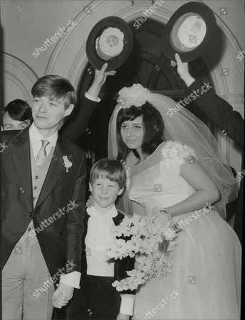 Simon Ward On His Wedding Day To Alexandra Malcolm With Page Boy 7 Year Old James Lascelles
