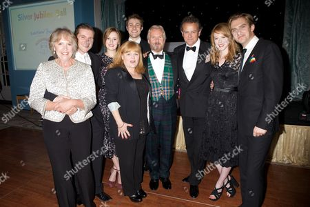 'Downton Abbey' cast - Penelope Wilton, Allen Leech, Laura Carmichael, Lesley Nicol, Thomas Howes, David Robb, Hugh Bonneville, Zoe Boyle and Dan Stevens