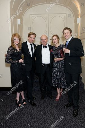 'Downton Abbey' cast - Zoe Boyle, Dan Stevens, Julian Fellowes, Laura Carmichael and Thomas Howes