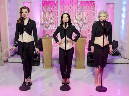 Stock Image of The Puppini Sisters - Stephanie O'Brien, Marcella Puppini and Kate Mullins