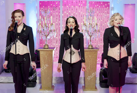 Stock Photo of The Puppini Sisters - Stephanie O'Brien, Marcella Puppini and Kate Mullins