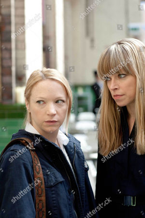 Natalie Press as Lucy Cartwright and Sarah Alexander as Theresa Vestry.