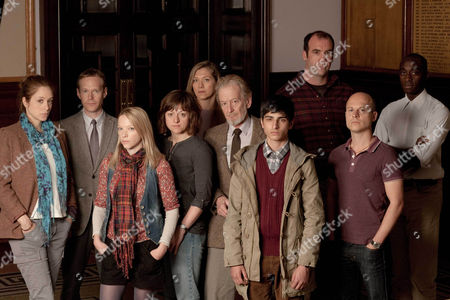 Stock Picture of THE JURY L-R:  Jodhi May as Diana Bulmore, Steven MacKintosh as Paul Brierley. Natalie Press as Lucy Cartwright, Jo Hartley as Ann Scailes, Branka Katic as Krystyna Bamford, Ronald Pickup as Jeffrey Livingstone, Aqib Khan as Rashid Jarwar, Rory McCann as Derek Hatch, Danny Babington as Brian Bundy and Ivanno Jeremiah as Tahir Takana.