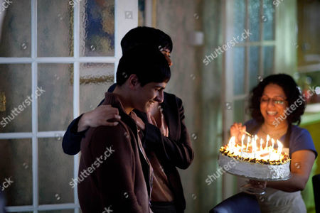 Aqib Khan as Rashid Jarwar celebrates his 18th Birthday. Shobu Kapoor as Rashids Mother.