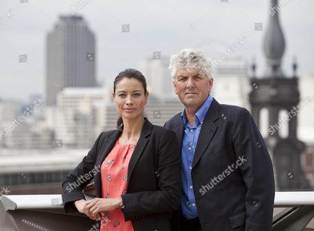 Melanie Sykes and Paul Heiney