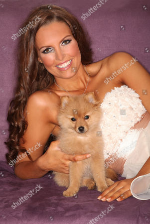 Stock Image of Charlotte Heaven with Dolly the dog