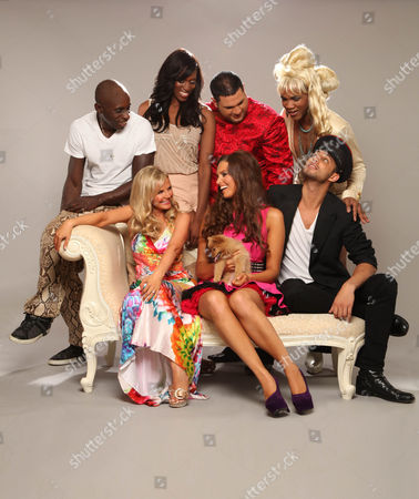 Stock Image of TOP ROW - Frank Akinsete, Dani J, Demitri Jones and Mr Fierce  BOTTOM ROW - Debbie King, Charlotte Heaven (With Dolly the Dog) and Matthew Holbrook