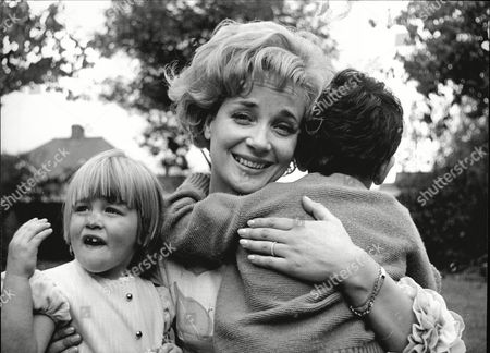 Editorial picture of Sylvia Syms Actress With Her Children Benjie Edney And Beatrice Edney 1965.