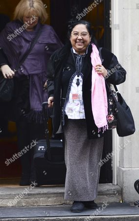 Rani King MBE leaving No 10 this morning with Helen Newlove behind