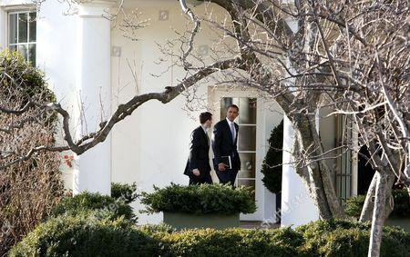 President Barack Obama (R) with David Plouffe