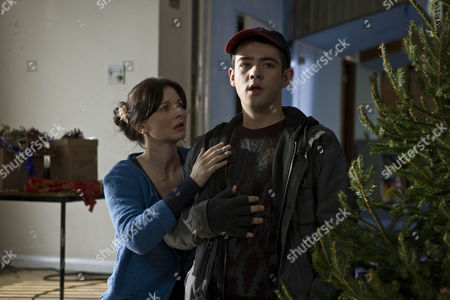 Stock Image of Sarah Smart as Laura Cooper and Jack McMullen as Freddie.