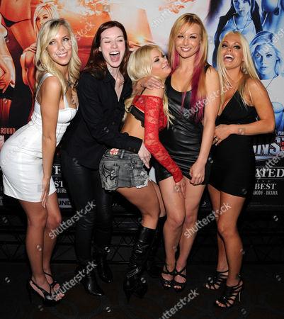 Bibi Jones, Stoya, Riley Steele, Kayden Kross and Jesse Jane