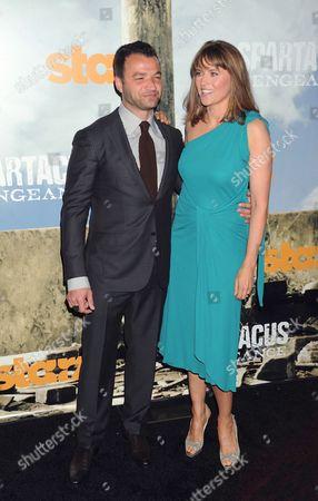 Nick Tarabay and Lucy Lawless
