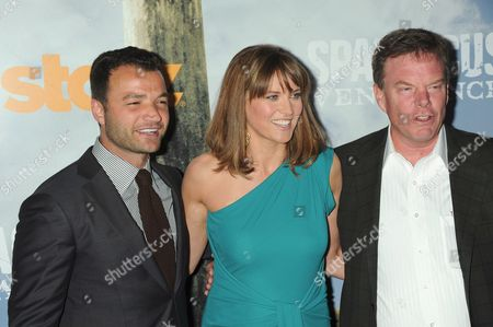 Nick Tarabay, Lucy Lawless and Rob Tapert
