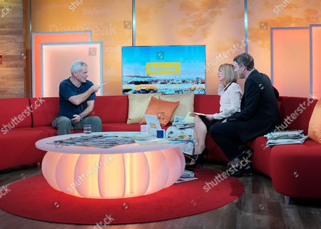 Jeremy Wade with Kate Garraway and Dan Lobb