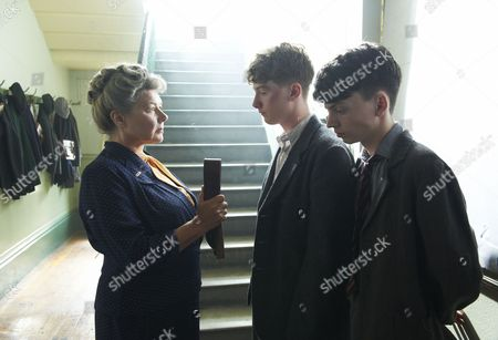Barbara Flynn as Mrs Beaumont, Josh Bolt as Henry and Perry Millward as Paul Jeffries.