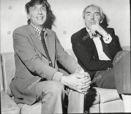 Colin Crompton With Fellow Comedian Frank Muir Both At Ideal Home Exhibition 1974.