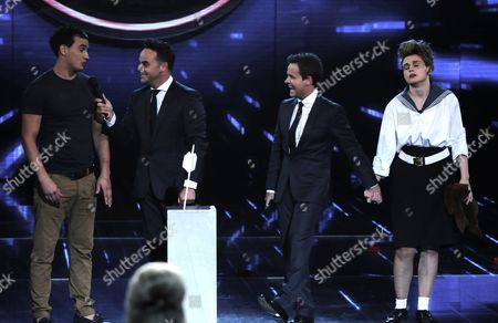 Nathan Hageman and Angel McKenzie with Ant and Dec [Anthony McPartlin, Decland Donnelly]