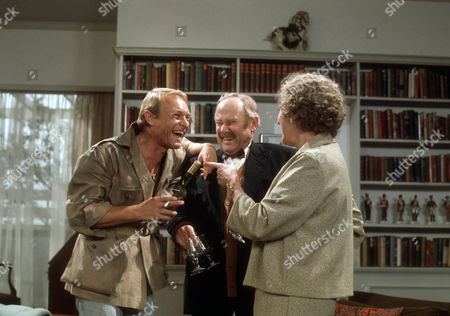 Stock Picture of Pierre Vanek as Jean Paul, Raymond Francis as Gordon's father and Fanny Rowe as Gordon's mother