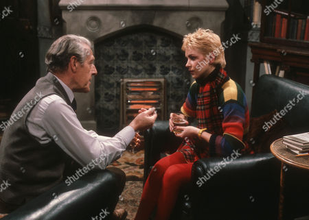Robin Bailey as Alan Calcutt and Leslie Ash as Ros Bedwell