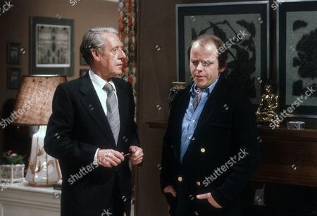 Robin Bailey as Alan Calcutt and Julian Holloway as Lawrence