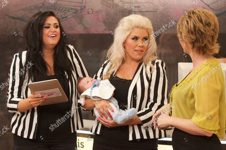 Two Shoes : Lucy Texeira and Charley Bird with Baby Beaux and Ruth Langsford