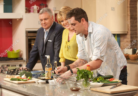 Eamonn Holmes and Ruth Langsford with Aaron Craze