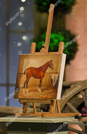 Stock Photo of Painting of 'Warhorse' by Ali Bannister