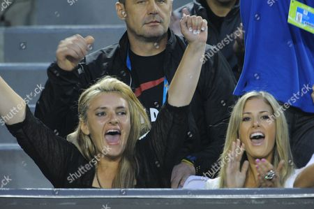 Bernard Tomic's mother Ady and blonde girlfriend Donay Meijer