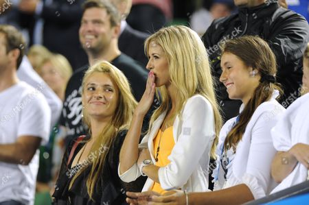 Bernard Tomic's family - mother Ady, sister Sara and blonde girlfriend Donay Meijer all watched as thousands cheered form the stands and millions at home watched as Australians cheered him on.
