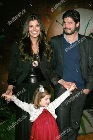 Ali Landry and Alejandro Monteverde and daughter