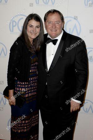 Denise Ream and John Lasseter