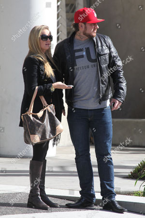 Editorial photo of Tiffany Thornton and Chris Carney out and about in Beverly Hills, Los Angeles, America - 21 Jan 2012