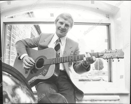 Jim Watt Boxer Posing With Guitar 1980.