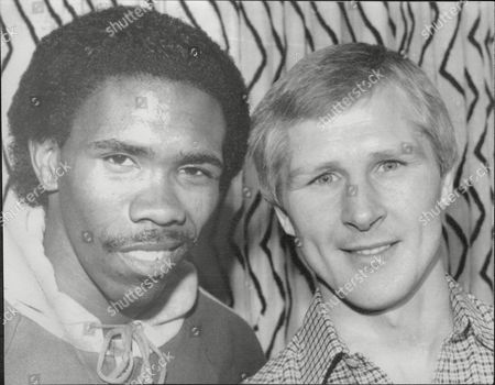 Jim Watt And Howard Davis Boxers Meet For The First Time 1980.