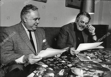 Harry Saltzman And Albert Broccoli Producers Of James Bond Films Look For A New James Bond Actor 1970.