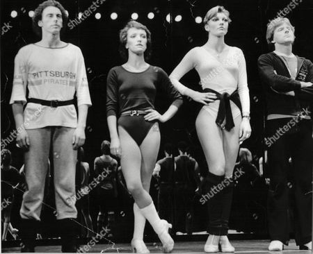 Some Of The Cast Of The Musical Chorus Line Which Is In Production At The Dury Lane Theatre Second From The Left Is Petra Siniawski