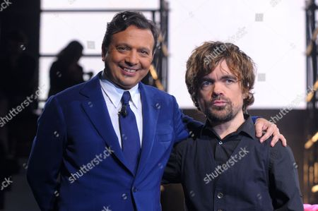 Piero Chiambretti and Peter Dinklage