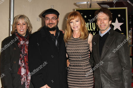 Carol Mendelsohn, Anthony Zuiker, Marg Helgenberger and Jerry Bruckheimer
