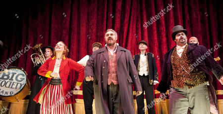 Kyla Goodey as Beatrice, Phill Jupitus as George Lightfeather and Dean Nolan as Master of Ceremonies