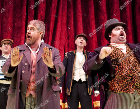 Phill Jupitus as George Lightfeather and Dean Nolan as Master of Ceremonies