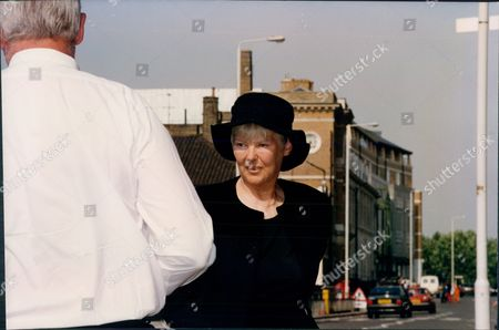 Jean Watts Dressed In Black; She Is Wife Of Sir Roy Watts The Missing Chairman Of Thames Water 1993.