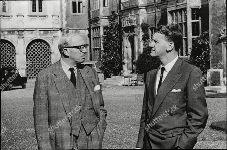 Lord Salisbury (l) And Rhodesian Premier Ian Smith In The Grounds Of Hatfield House.