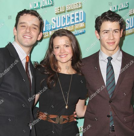 Michael Urie, Rose Hemingway and Nick Jonas