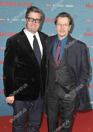 Stock Picture of Director Tomas Alfredson and Gary Oldman