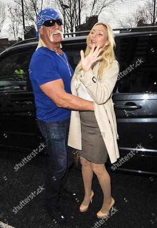 Stock Photo of Hulk Hogan and Jennifer McDaniel