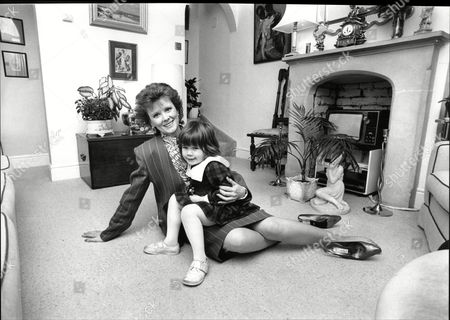 Stock Picture of Patricia Shakesby Actress From Tv Drama Howard's Way With Her Great Niece Lauren 1988.