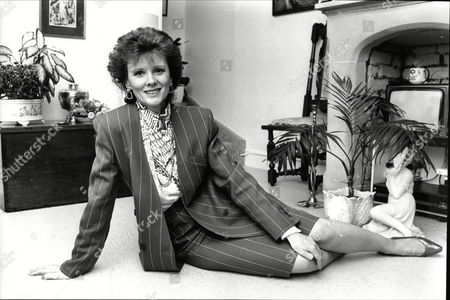 Stock Image of Patricia Shakesby Actress From Tv Drama Howard's Way 1988.