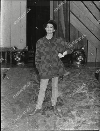 Stock Image of Lynn Seymour Ballet Dancer Who Left Royal Ballet To Star Rock Dance Group 1988.